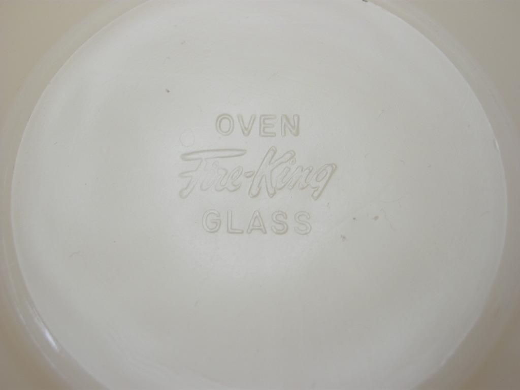 ファイヤーキング 1700line ランソムカップ&ソーサー ライトアイボリー 40s後期(GLASS刻印) A No.012