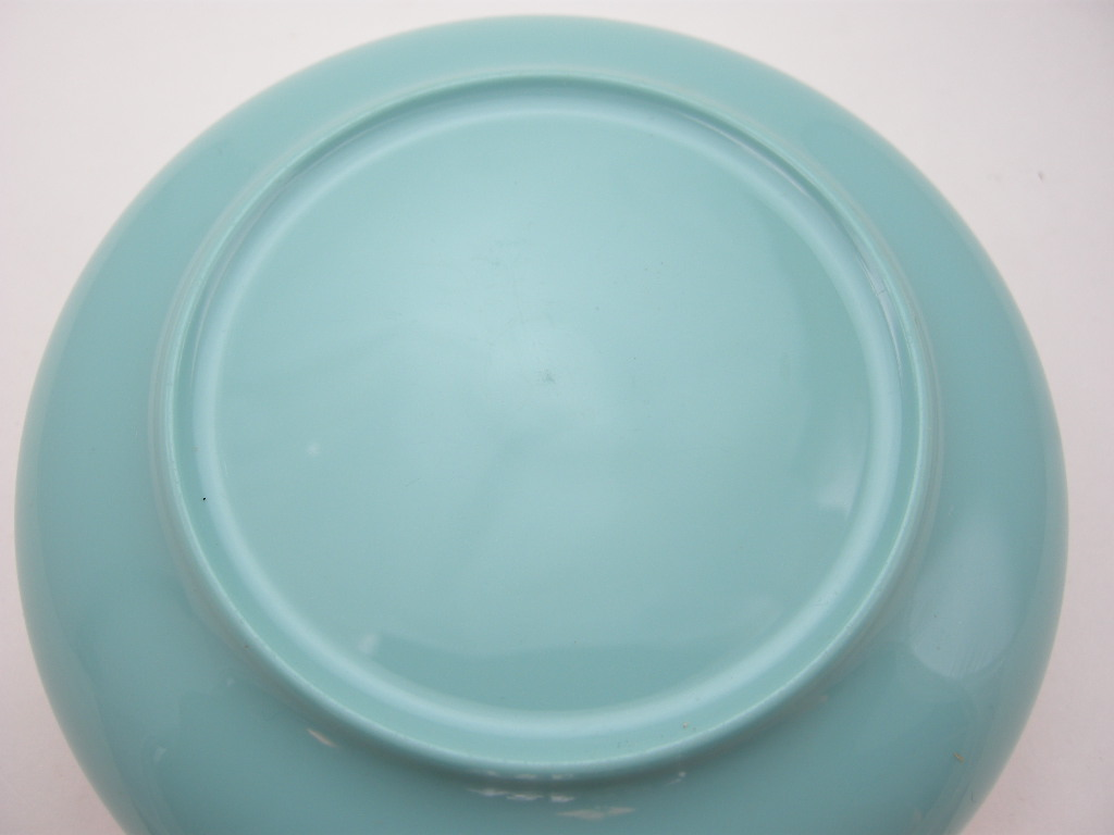 ボップデッカー メルマック ボウル ホワイト&水色 1950年代 AB No.010 ※ヴィンテージ・メラミン樹脂製食器