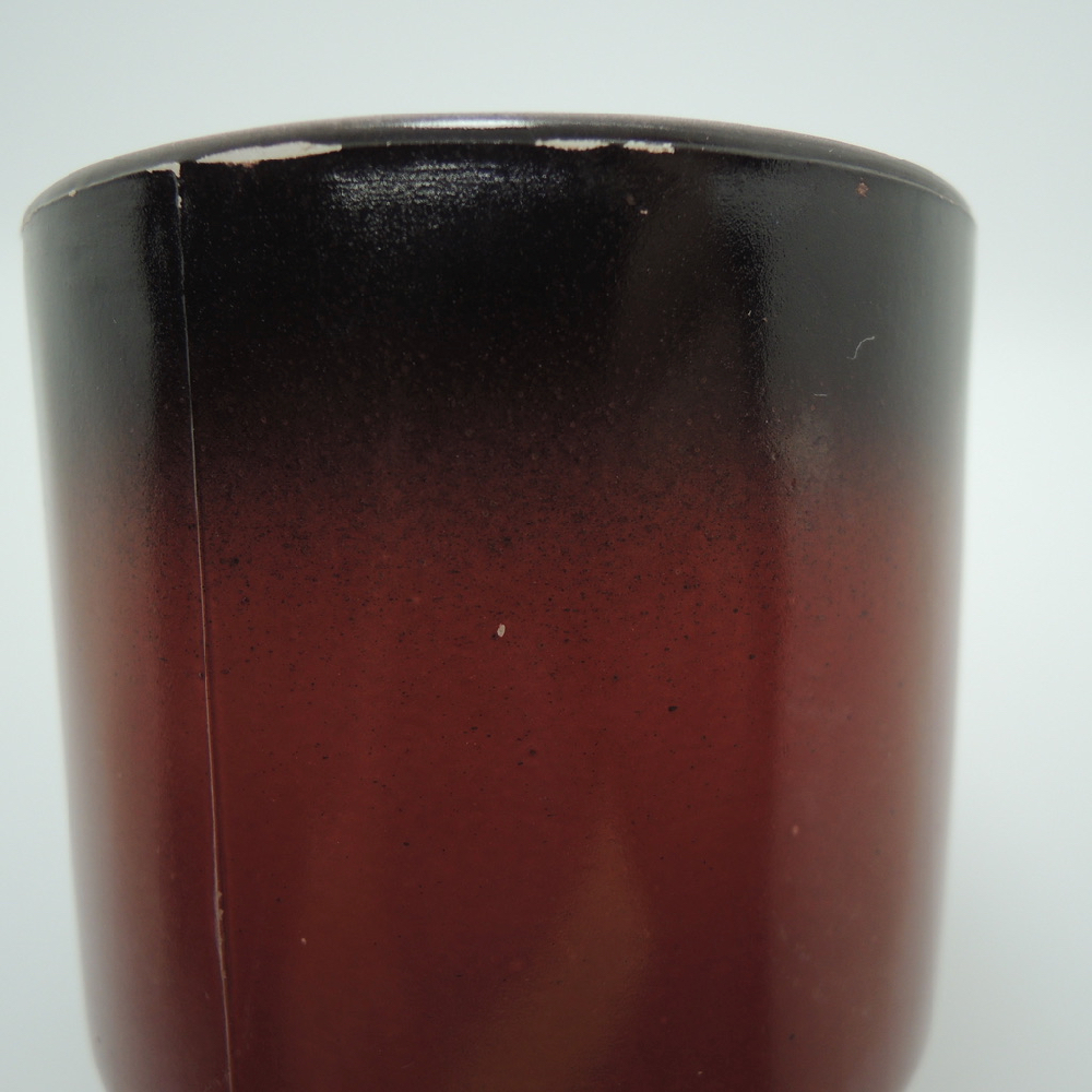 ファイヤーキング スタッキングマグ グラデーション 黒・栗色 1960年代 ABランク No.436