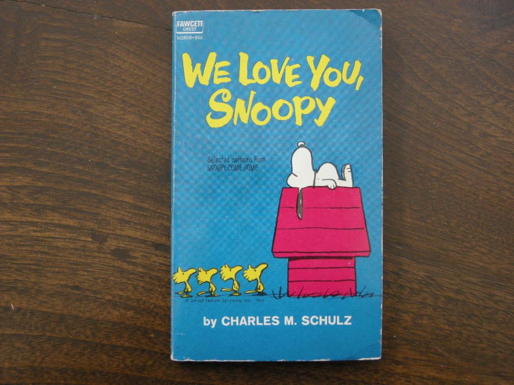 スヌーピー 『We Love You,SNOOPY』 ヴィンテージコミックブック モノクロ 1962年発行 (ペーパーバック) 中古 AB 送料無料
