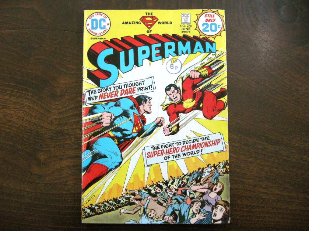 スーパーマン 『SUPERMAN (No.276)』 ヴィンテージコミックブック カラー 1974年発行 (ペーパーバック) 中古 A 送料無料