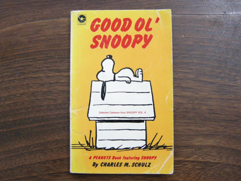 スヌーピー 『GOOD OL' SNOOPY』 ヴィンテージコミックブック モノクロ 1977年発行 (ペーパーバック) 中古 B 送料無料