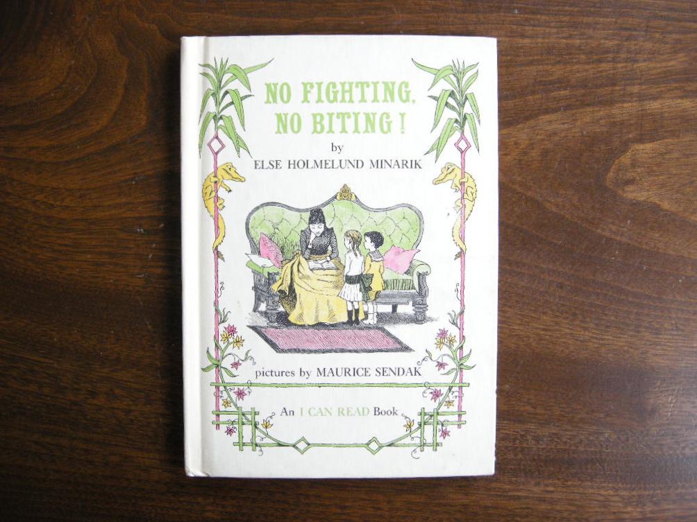 モーリスセンダック『NO FIGHTING, NO BITING!』 けんかしちゃだめ!かんじゃだめ!ヴィンテージ英語絵本 フルカラー(ハードカバー) 1958年 中古AB
