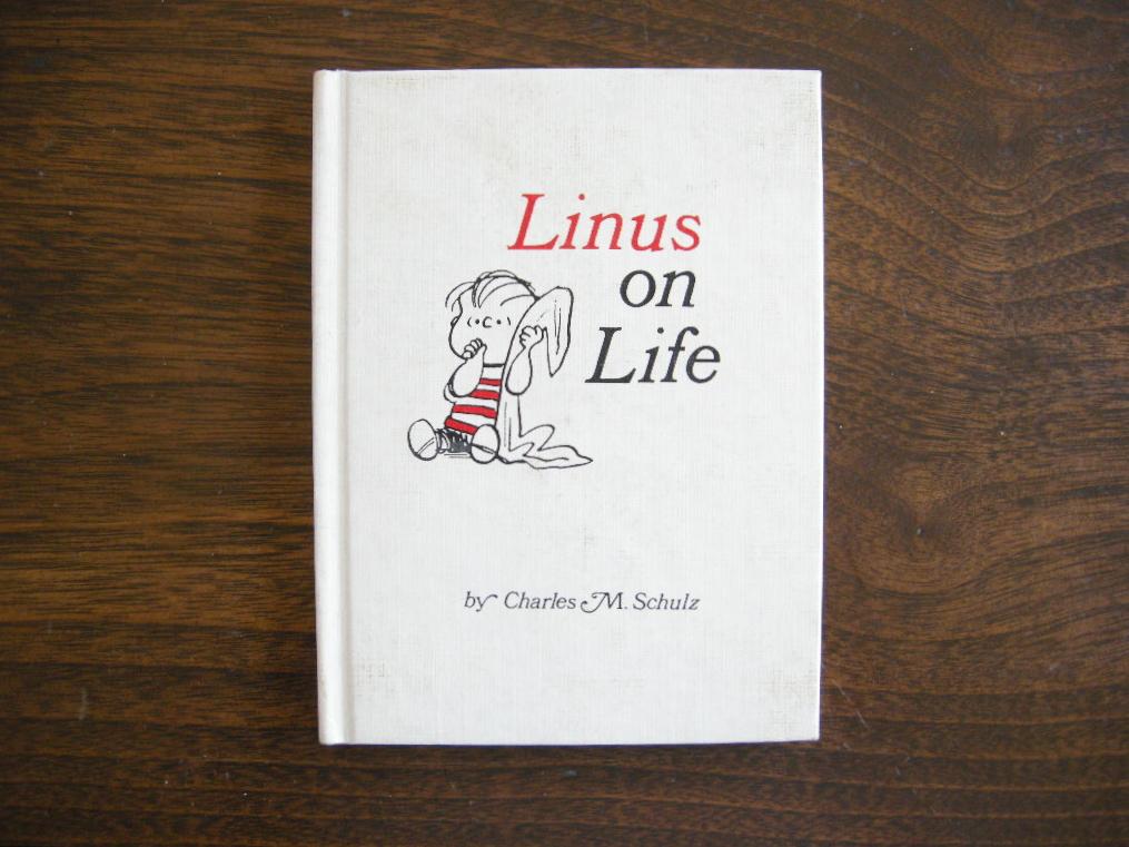 スヌーピー 『Linus on Life』 ヴィンテージ絵本 2色刷り(ハードカバー) No.001 中古AB