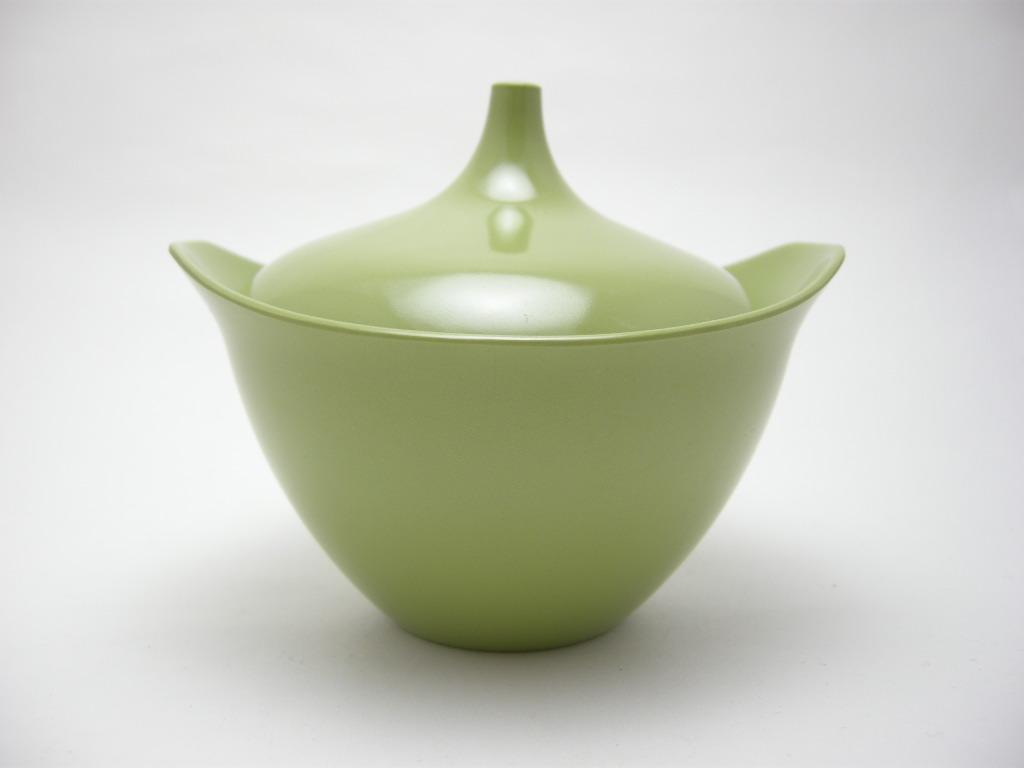 テキサスウェア メルマック シュガーポット 若草色 1950年代 No.001 ヴィンテージ・メラミン樹脂製食器