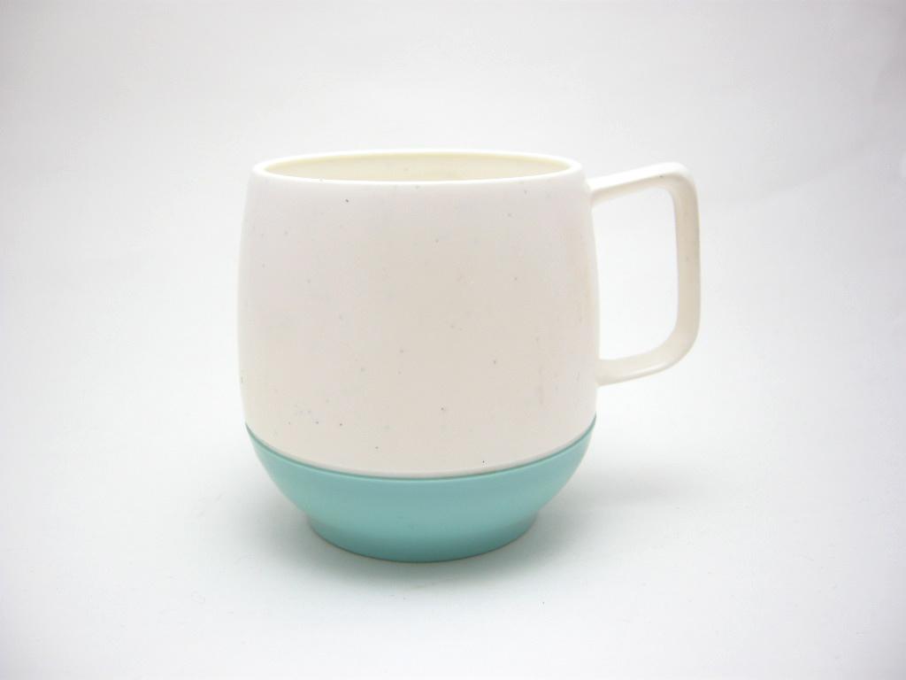 ボップデッカー メルマック マグカップ ホワイト&水色 1950年代 No.004 ヴィンテージ・メラミン樹脂製食器