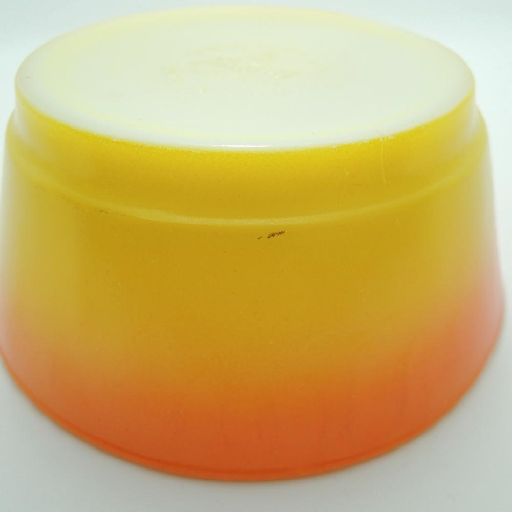 ファイヤーキング スープ/シリアルボウル グラデーション 橙・黄 1960年代 A No.015