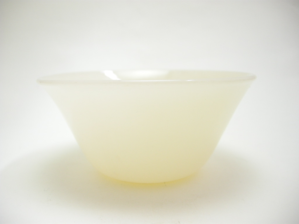ファイヤーキング カスタードカップ(6oz) アイボリー 40s(GLASS刻印) S No.022