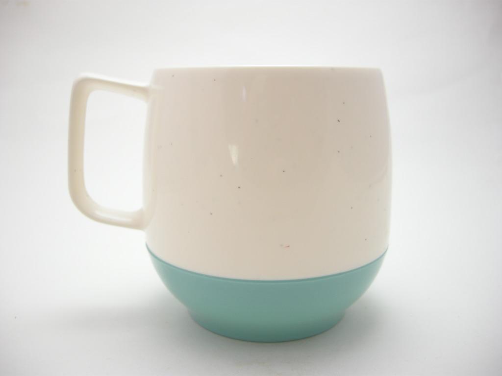 ボップデッカー メルマック マグカップ ホワイト&水色 1950年代 A No.015 ヴィンテージ・メラミン樹脂製食器