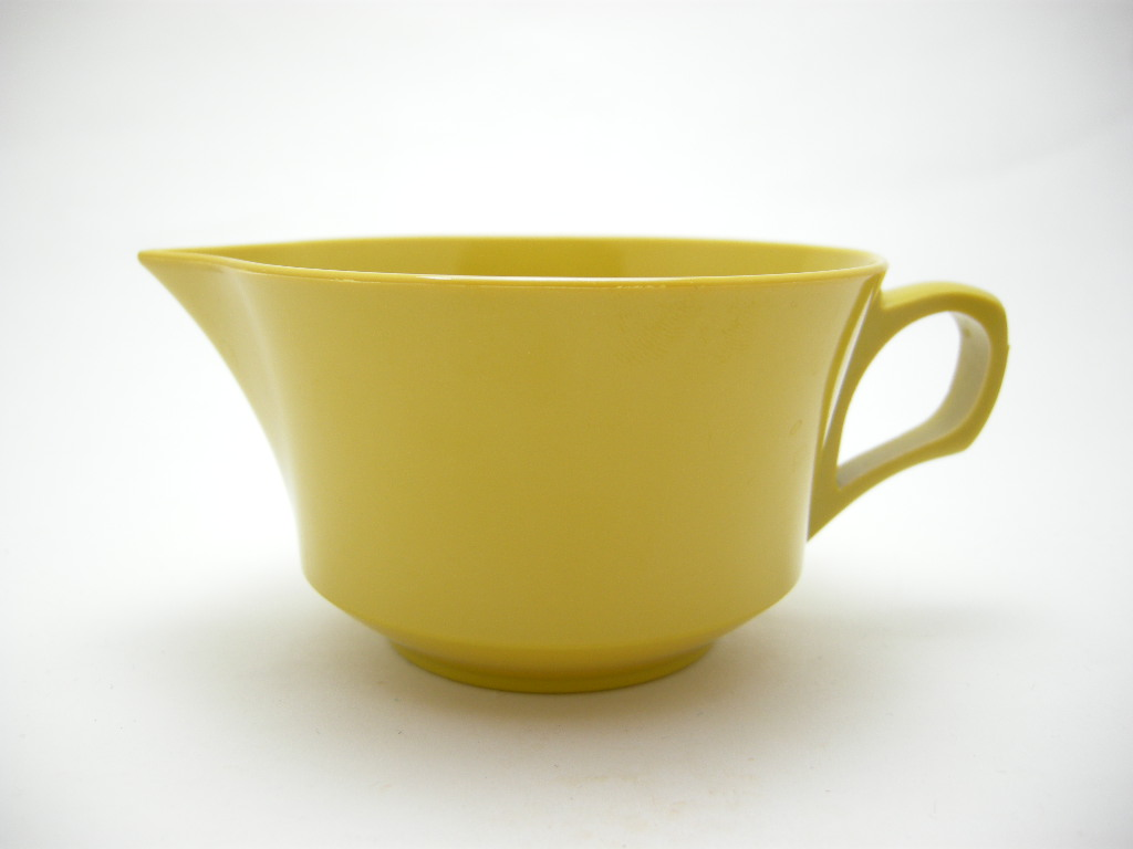 アリッドケミカル メルマック シュガー&クリーマー 辛子色 50s〜 No.003 ヴィンテージ・メラミン樹脂製食器