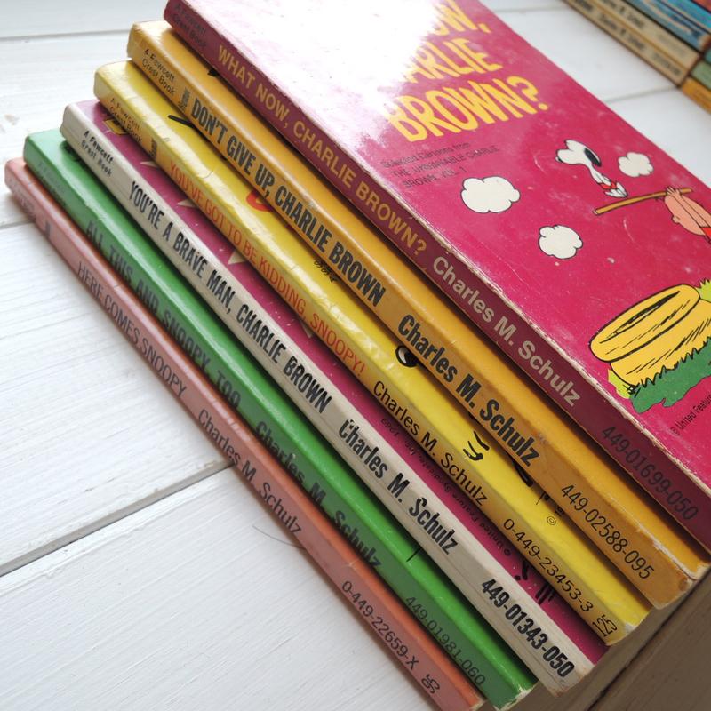 スヌーピー ヴィンテージコミック(ペーパーバック)  英語版 1950年ー1970年代 6冊セット ABランク No.040