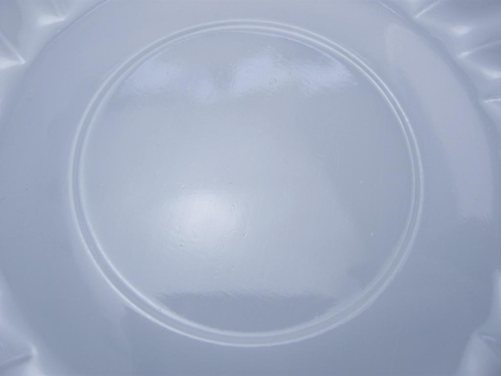 ファイヤーキング スワール ソーサー アズライト 40s後期(GLASS刻印/ラベル付き) S No.001