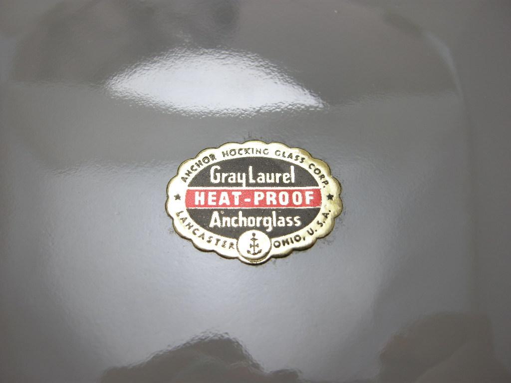 ファイヤーキング ローレル ディナープレート グレイ 50s後期 SS(シール付) No.020