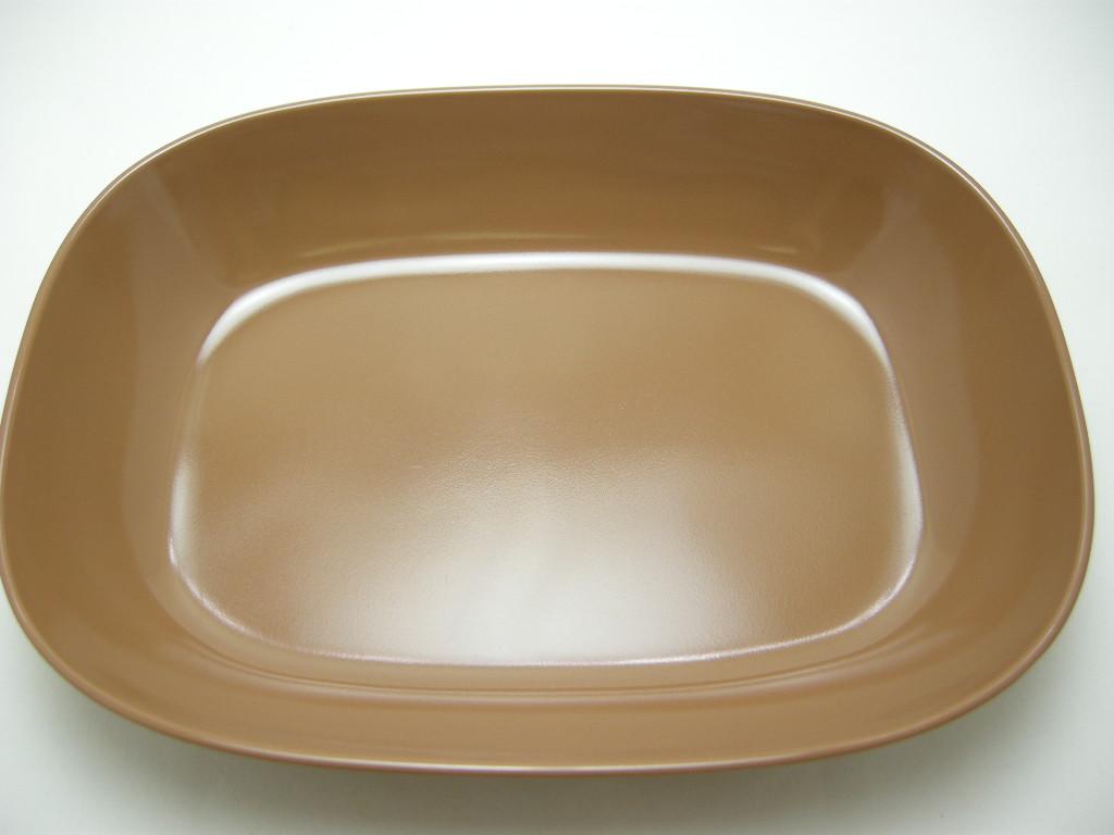 テキサスウェア メルマック カレー皿 サドルブラウン 1950年代 No.001 ヴィンテージ・メラミン樹脂製食器