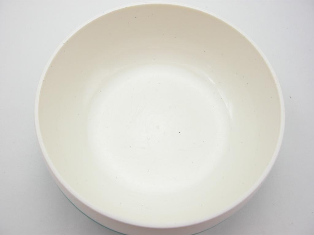 ボップデッカー メルマック ボウル ホワイト&水色 1950年代 AB No.008 ※ヴィンテージ・メラミン樹脂製食器