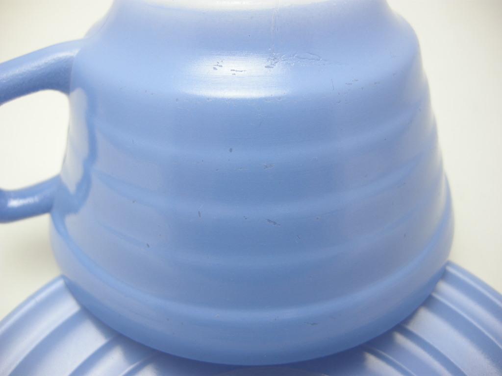 ヘーゼルアトラス モダントーン(ファイヤードオン) カップ&ソーサー ブルー 30s AB No.051