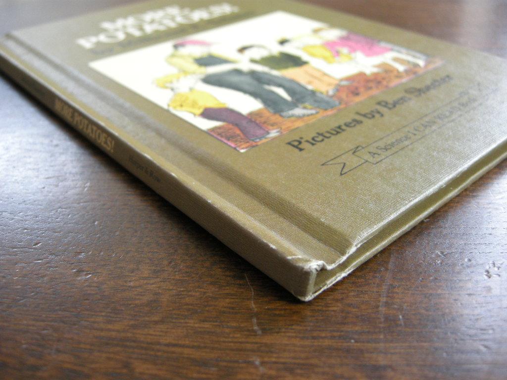 ベンシェクター『MORE POTATOES!』 ヴィンテージ英語絵本 フルカラー(ハードカバー) 1972年 中古A