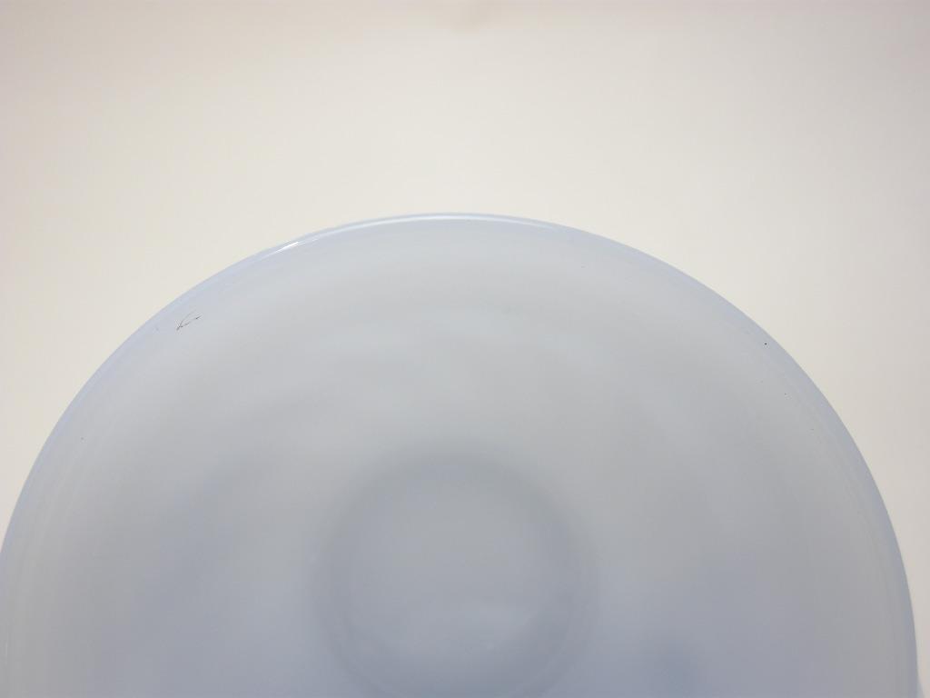 ファイヤーキング スワール カップ&ソーサー アズライト 40s後期(GLASS刻印) A No.003