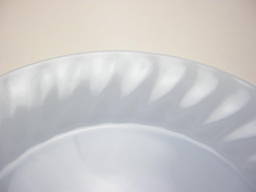 ファイヤーキング スワール サラダプレート アズライト 40s後期(GLASS刻印) S No.019
