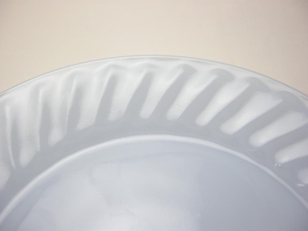 ファイヤーキング スワール ディナープレート アズライト 40s後期(GLASS刻印) A No.023
