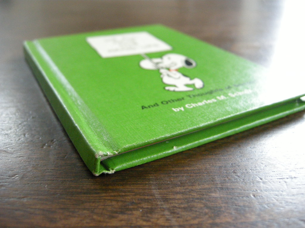 スヌーピー 『WE ALL HAVE OUR HANG-UPS』 ヴィンテージ絵本 2色刷り 1969年発行(ハードカバー) No.017 中古A