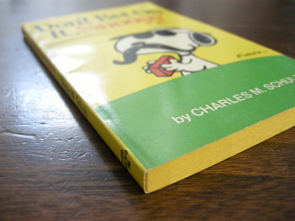 スヌーピー 『Don't Bet On It, Snoopy』 ヴィンテージコミックブック モノクロ 1982年発行 (ペーパーバック) No.001 中古A