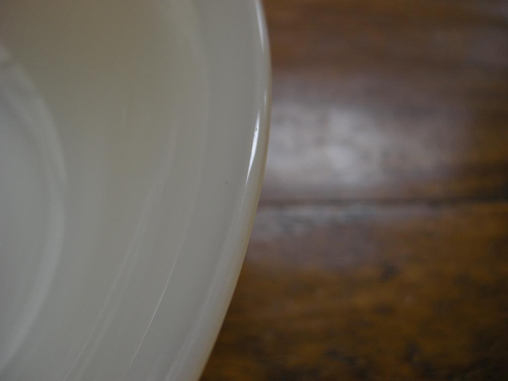 ファイヤーキング 1700line ベジタブルボウル ダークアイボリー (GLASS刻印) No.001