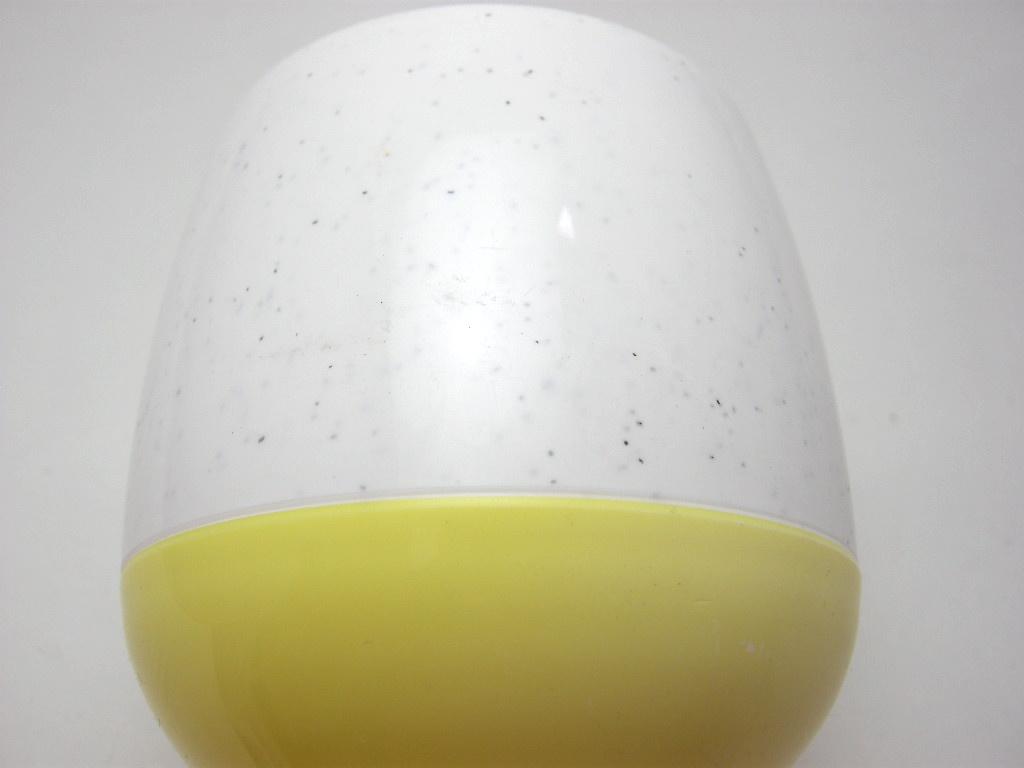 ボップデッカー メルマック タンブラー(S) ホワイト&イエロー 1950年代 No.003 ヴィンテージ・メラミン樹脂製食器