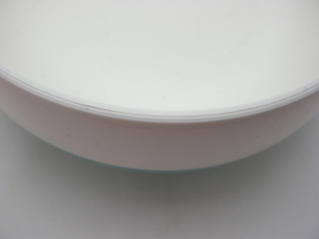 ボップデッカー メルマック ボウル ホワイト&水色 1950年代 A No.011 ※ヴィンテージ・メラミン樹脂製食器