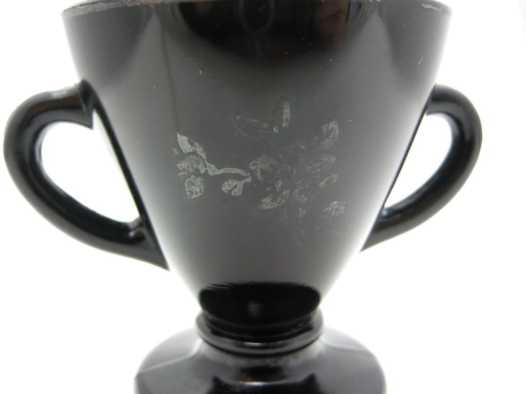 ヘーゼルアトラス オバイド フローラルステアリング シュガーポット ブラック AB No.005