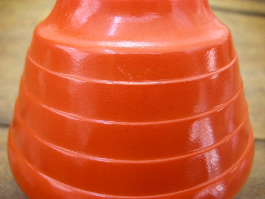 ヘーゼルアトラス モダントーン(ファイヤードオン) カップ&ソーサー オレンジ 30s AB No.045【T様お取り置き品】