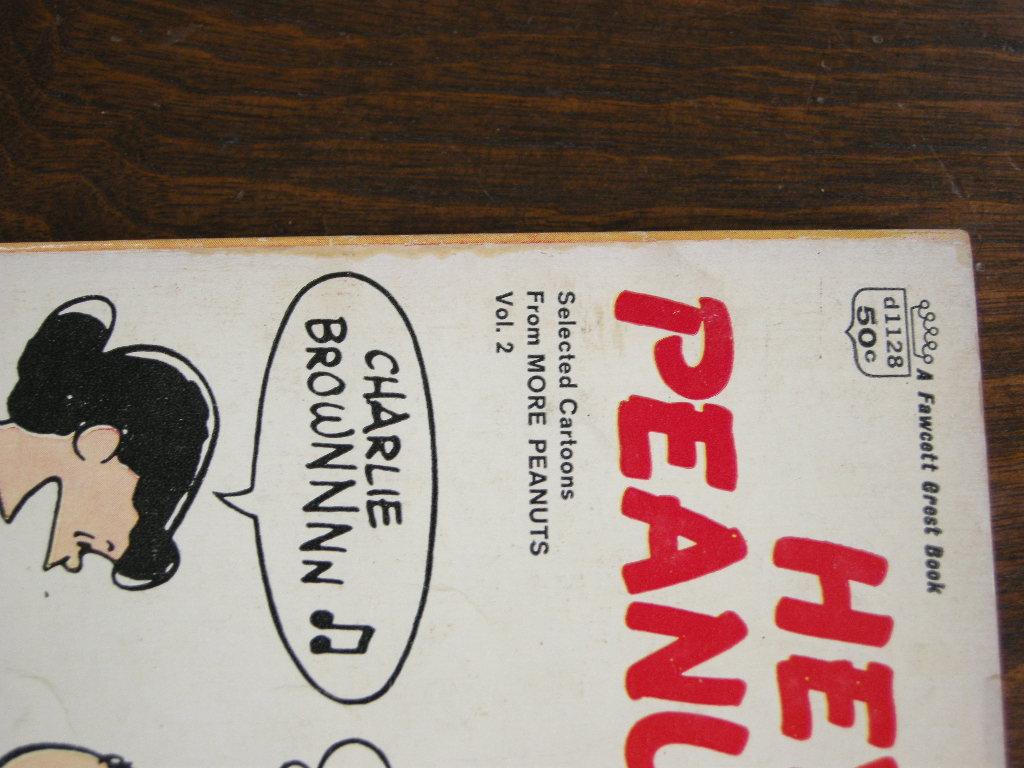 スヌーピー 『HEY, PEANUTS!』 ヴィンテージコミックブック モノクロ 1954年発行 (ペーパーバック) No.001 中古AB