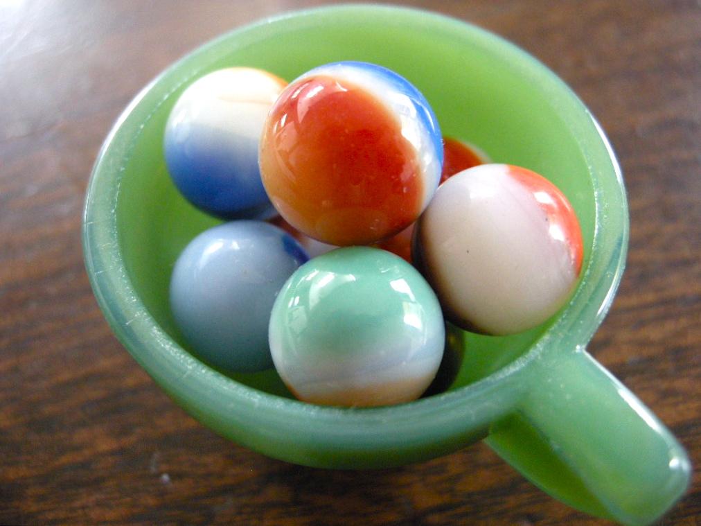 アクロアガット他 ヴィンテージ ビー玉8個セット 1940年代以前 Aランク中心 No.002 戦前アメリカのマーブルガラスビー玉