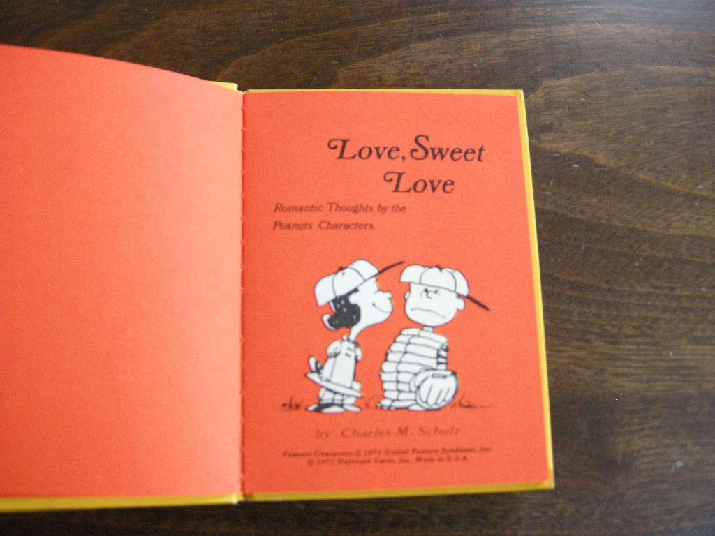 スヌーピー 『LOVE, SWEET, LOVE』 ヴィンテージコミック カラー紙/モノクロ 1971年発行(ハードカバー) No.020 中古AB