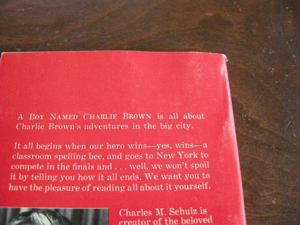 スヌーピー 『A BOY NAMED CHARLIE BROWN』 ヴィンテージ絵本 カラー紙/フルカラー 1970年発行 (ペーパーバック) No.002 中古A