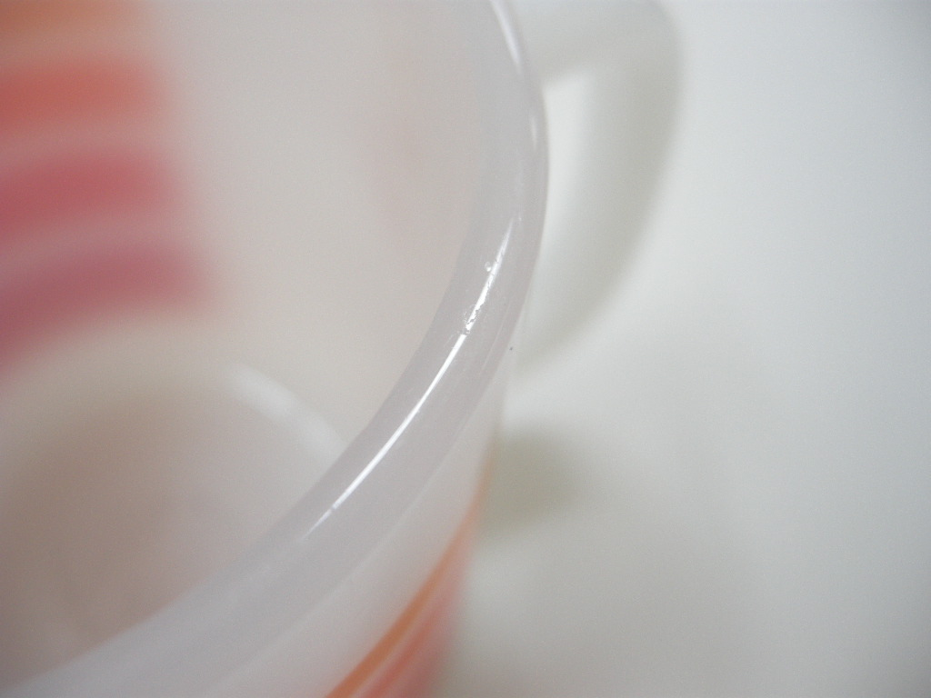 グラスベイク スタッキングマグ ストライプ オレンジ・赤 AB No.002
