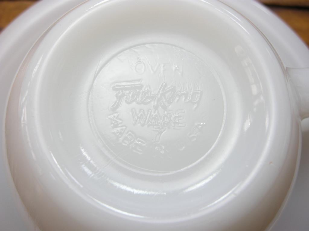ファイヤーキング RW エキストラヘビーカップ&ソーサー ホワイト 50s後期 S No.042