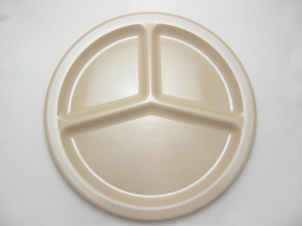 テキサスウェア メルマック 3コンパートメントプレート(2枚セット) 枯草色 1950年代 No.002 ヴィンテージ・メラミン樹脂製食器