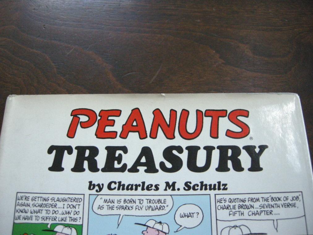 スヌーピー 『PEANUTS TREASURY』 ヴィンテージコミックブック モノクロ 1968年発行 (ハードカバー) 中古 送料無料