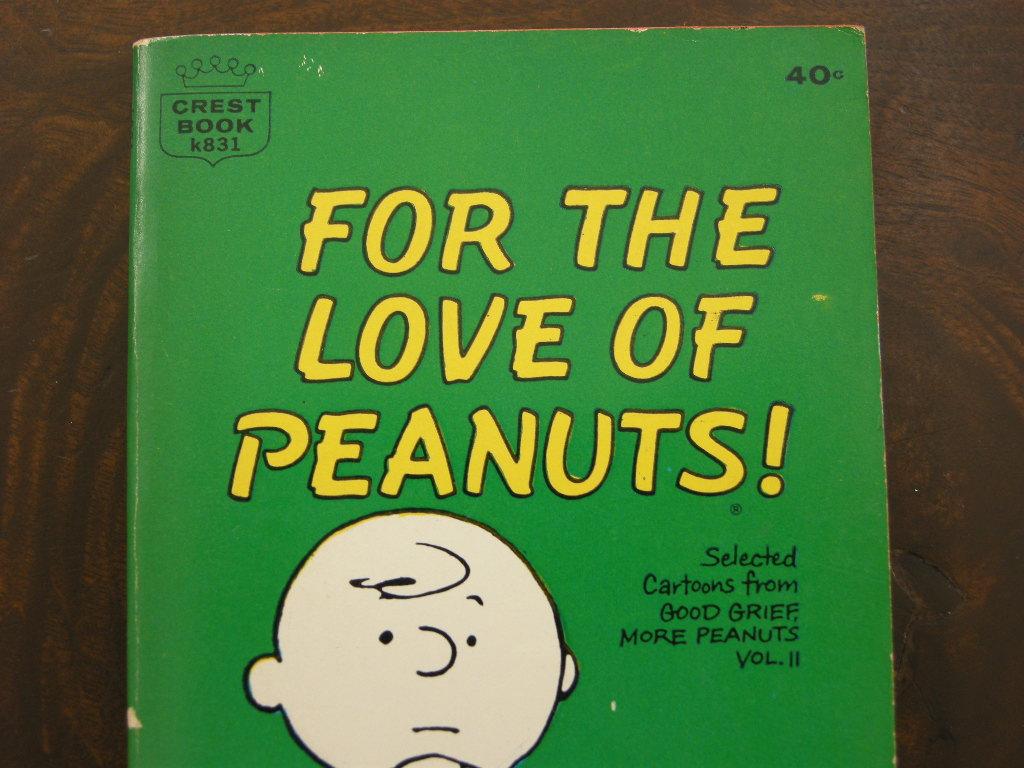 スヌーピー 『FOR THE LOVE OF PEANUTS!』 ヴィンテージコミックブック モノクロ 1964年発行 (ペーパーバック) No.002 中古 AB 送料無料