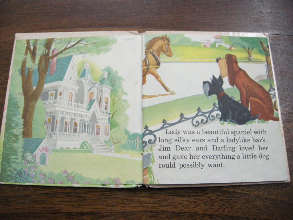 ディズニー わんわん物語『LADY』 ヴィンテージ英語絵本 1960年代 フルカラー (ハードカバー) 中古 C 送料無料