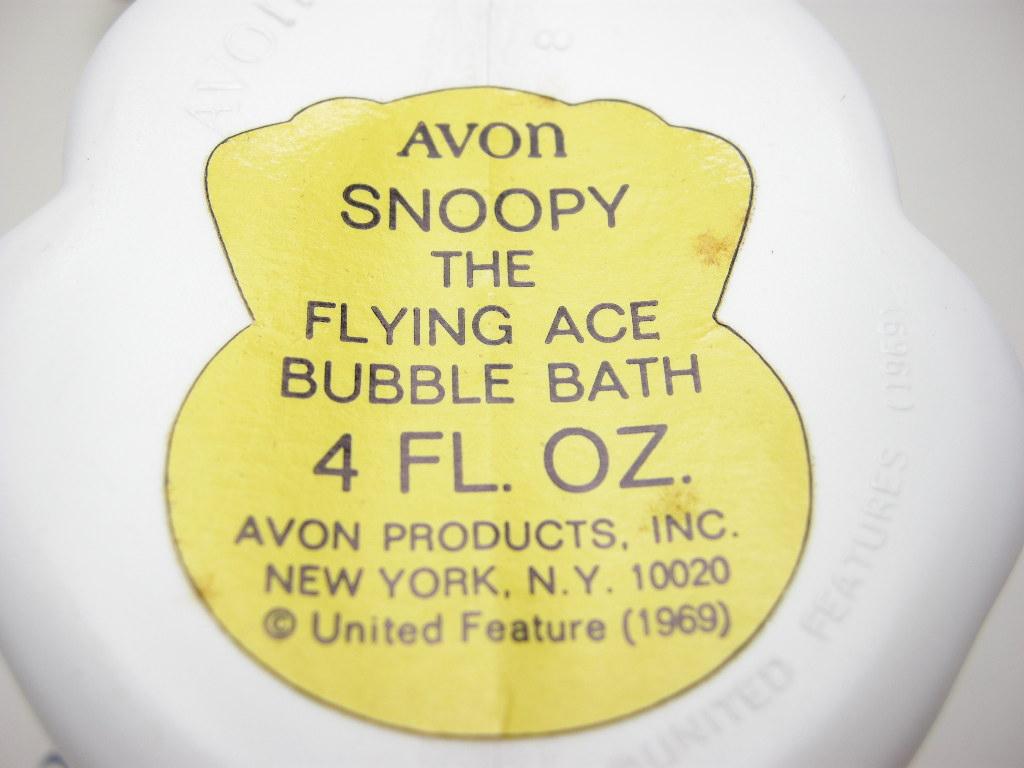 エイボン バブルバスボトル  スヌーピー  フライング・エース (箱入り) 1969年 A No.029