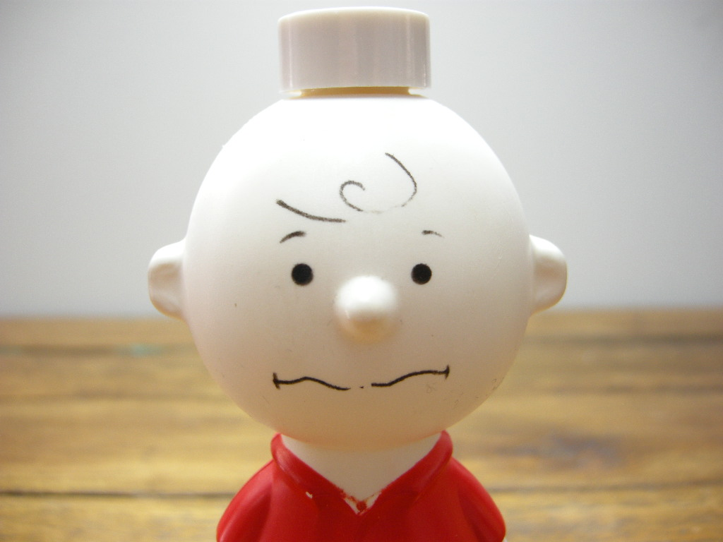 エイボン シャンプーボトル チャーリー・ブラウン (箱入り) 1950年 A No.034