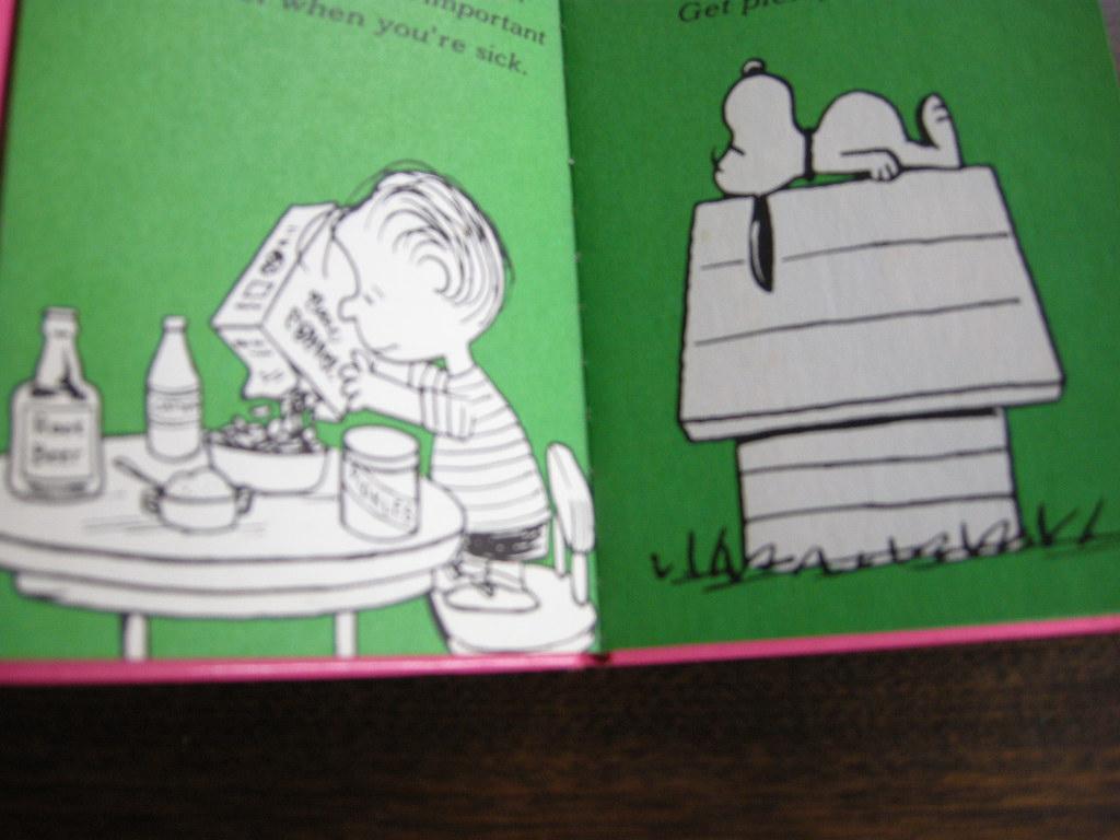 スヌーピー 『CHOUGHTS ON GETTING WELL』 ヴィンテージ絵本 カラー紙/モノクロ 1971年発行(ハードカバー) No.018 中古AB