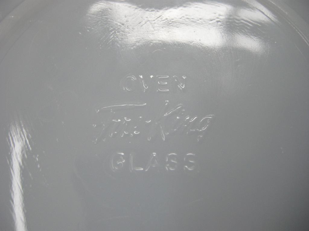 ファイヤーキング スワール シリアルボウル アズライト 40s後期GLASS刻印 A No.005