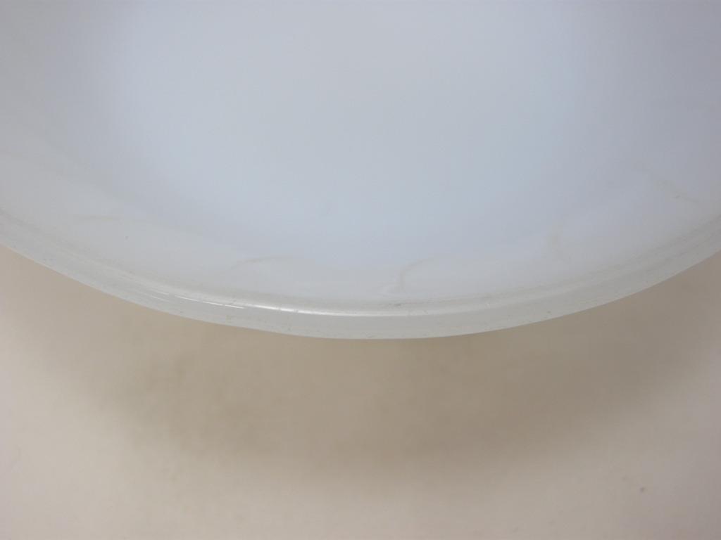 ファイヤーキング スワール フルーツボウル アズライト 40s後期(GLASS刻印) ジャンク No.003