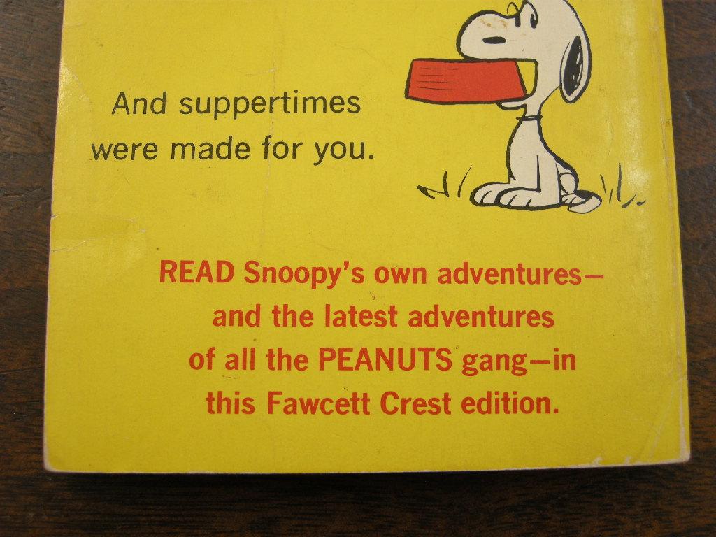 スヌーピー 『IT'S FOR YOU,SNOOPY』 ヴィンテージコミックブック モノクロ 1971年発行 (ペーパーバック) 中古 送料無料
