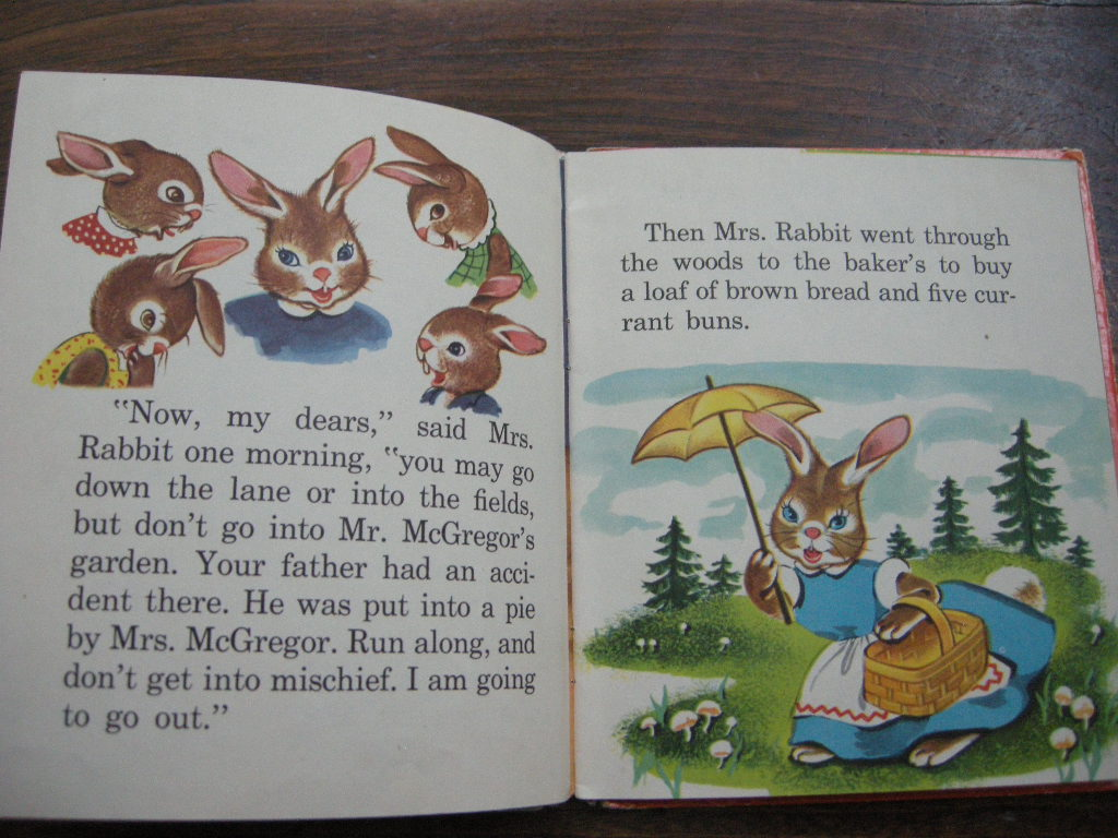 ピーターラビット『Peter Rabbit』 (絵:Beth Wilson) ヴィンテージ英語絵本 1950年代 フルカラー (ハードカバー) 中古 B 送料無料