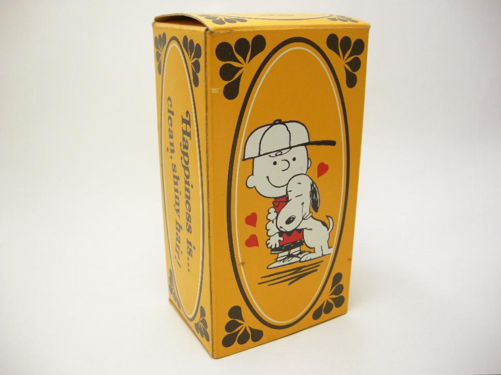 エイボン シャンプーボトル  チャーリー・ブラウン&スヌーピー (箱入り) 1971年 AB No.037