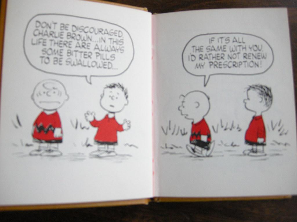 スヌーピー 『CHARLIE BROWN'S REFLECTIONS』 ヴィンテージ絵本 2色刷り 1967年発行(ハードカバー) No.015 中古AB